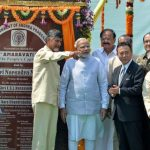 Modi lays foundation for Amaravati – The New Capital City for Andhra Pradesh