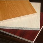 What is meant by laminated particle Board?