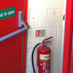 What is a Panic Bar on a fire door?