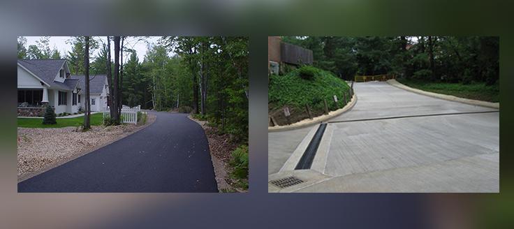 Asphalt Vs. Concrete Driveways