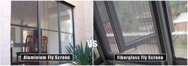 Aluminium vs Fiberglass Fly Screen
