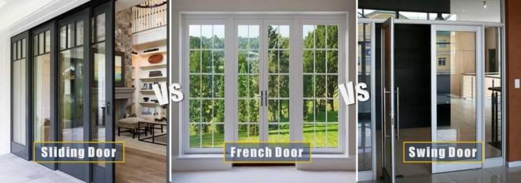 Sliding vs French vs Swing Doors