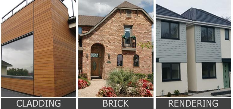 cladding vs brick vs rendering