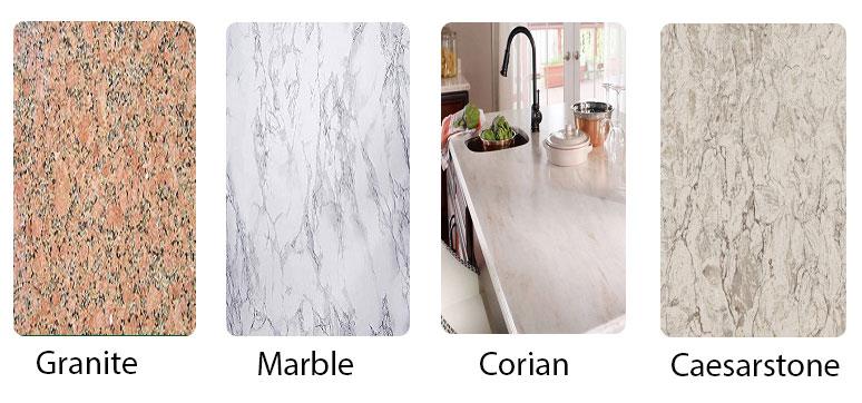 Quartz vs Granite vs Marble vs Corian vs Caesarstone
