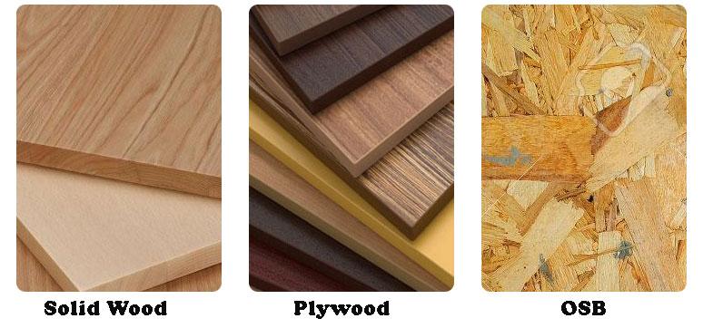 solid wood vs plywood vs osb