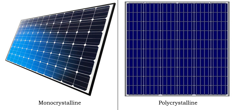 polycrystalline and monocrystalline