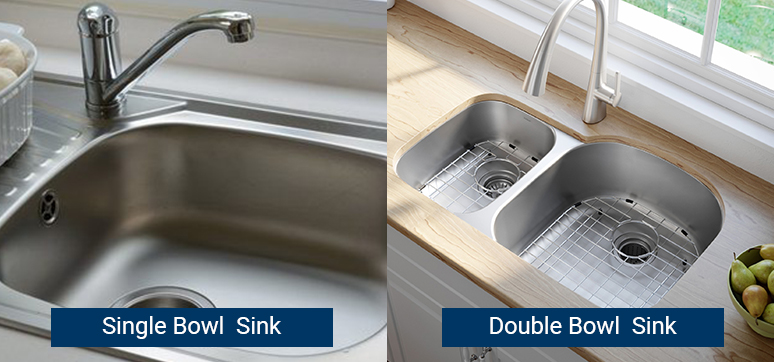 Single Bowl vs Double Bowl sink and pros and cons