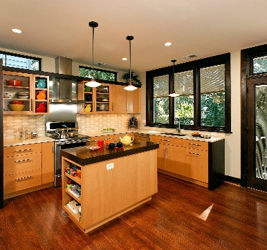 Modular Kitchen Glass Door Design