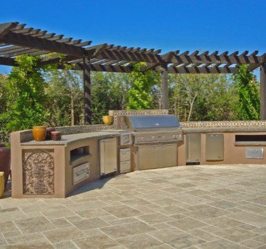 Outdoor Kitchen Design with Ample Counter Space