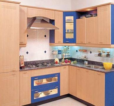 Modular Kitchen with super private corner