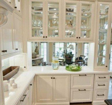 Extraordinary glass kitchen cupboards