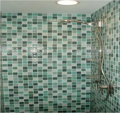 Glass bathroom tile design
