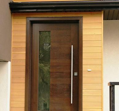 Door with Large steel Handle