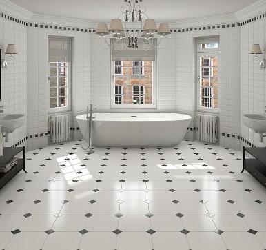 amazing antique bathroom floor