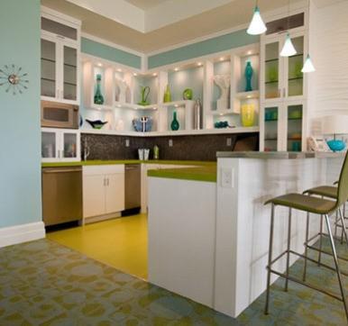 Corner Open Kitchen Design