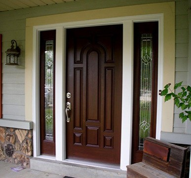 Door and Glass Side Panels