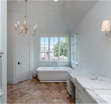 Terracotta bathroom tile