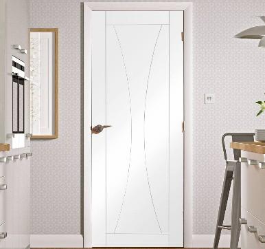 steel shine flush door