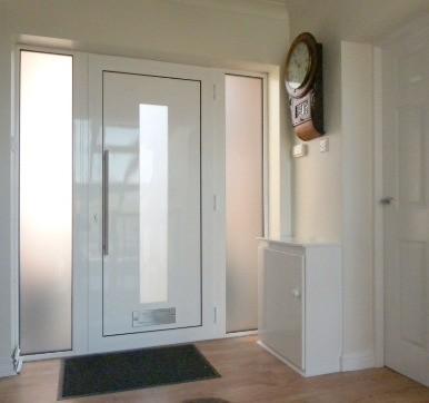 White Painted Aluminium Door