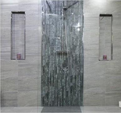 Slate bathroom tile