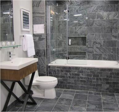 Slate bathroom tile design ideas