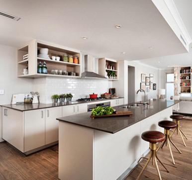Parallel Open Modular Kitchen Design