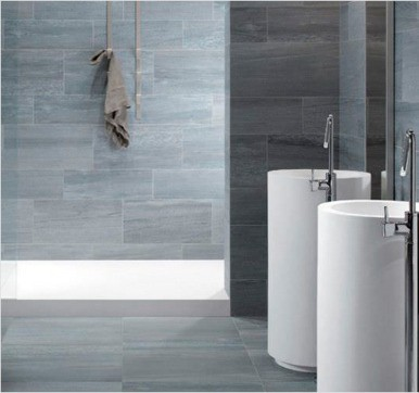 Porcelain bathroom tile design