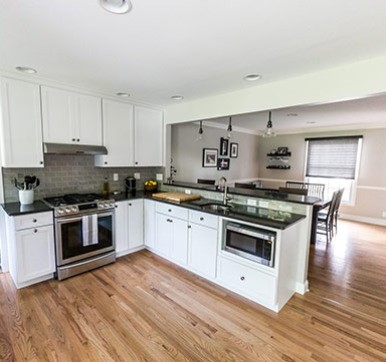 Open Kitchen Design with Living Space