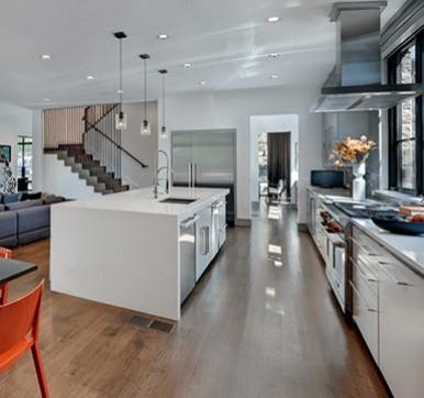 Straight Open Modular Kitchen Design