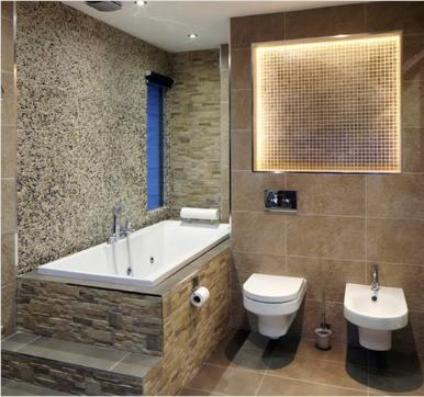 Stone bathroom tile design ideas