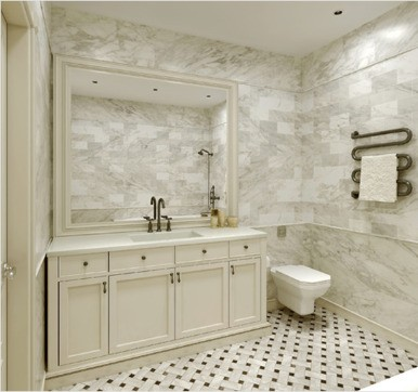 Marble bathroom tile design idea