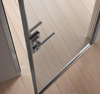 slender steel door