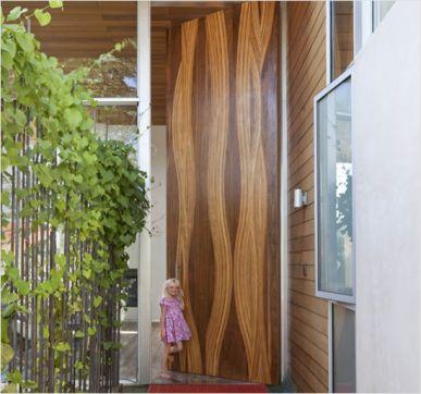 single panel wood door for homes