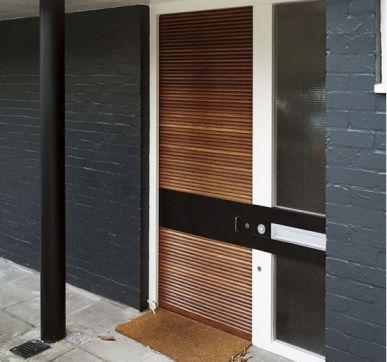 Vibrant solid wood doors