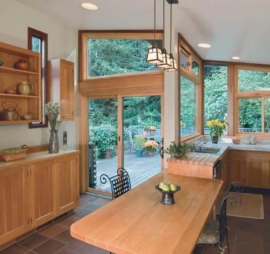 Kitchen Glass Door Design