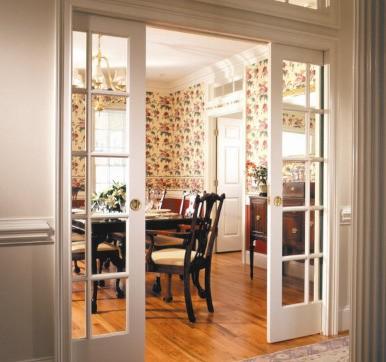 uPVC Kitchen Door with Glass