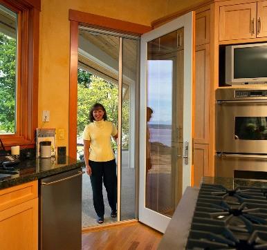 Modular Kitchen Casement Glass Door Design