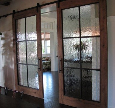 Modular Kitchen Door Design with Frosted Glass
