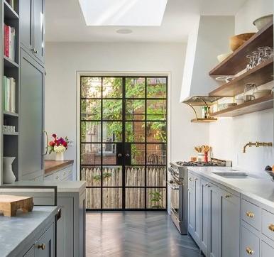 Steel Glass Door Design For Kitchen