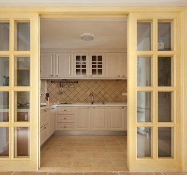 30 Modern Kitchen Door Designs With Glass In India