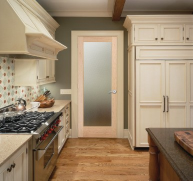Kitchen Door with Frosted Glass