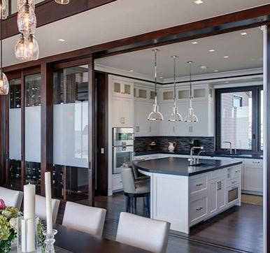 modular kitchen sliding door design