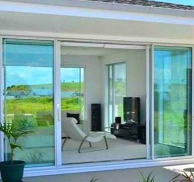 large glass sliding doors