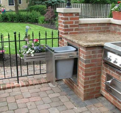 Outdoor Modular Kitchen With Trash