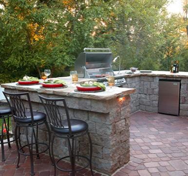 U Shape Outdoor Modular Kitchen