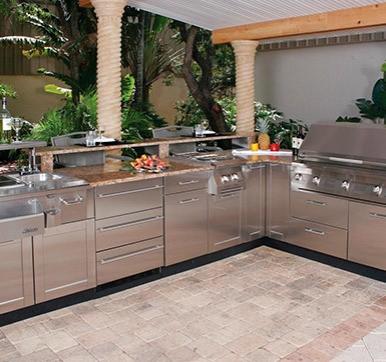 Outdoor Steel Kitchen Design