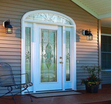 Stylish glass main door