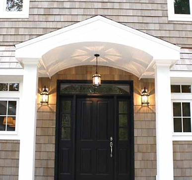 Colonial House entrance door design