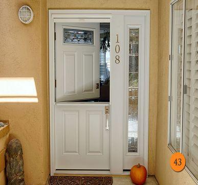 Dutch style entry doors
