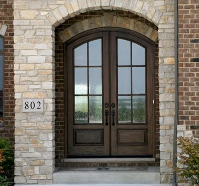 Traditional Arched entry doors